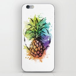 Watercolor Pineapple iPhone Skin