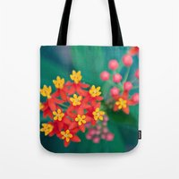 fireworks Tote Bags featuring fireworks by shannonblue