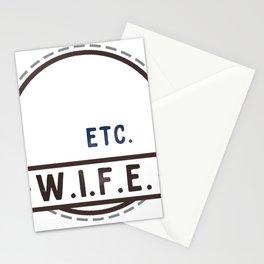 W.I.F.E. - wife, milf - WHITE Stationery Cards