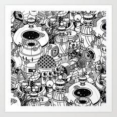 Dark Matter Space Machine Art Print