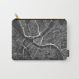 Pittsburgh Map, USA - Gray Carry-All Pouch