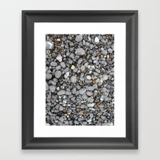 pebbles on the beach Framed Art Print