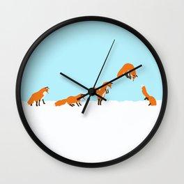 The jumping fox Wall Clock