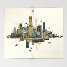 Collage City Mix 8 Throw Blanket