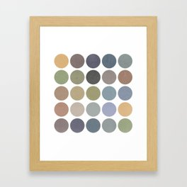 circles of color Framed Art Print