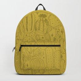 Cactus Scene in Green Backpack
