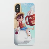 luffy iPhone & iPod Cases featuring Straw Hat Luffy by Amber Graves