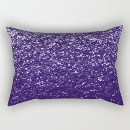 Dark ultra violet purple glitter sparkles Rectangular Pillow