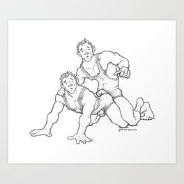 Wrestling Brothers: Twins Art Print