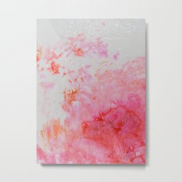 Spring Floral #5 - Pink & Coral Abstract Print Metal Print
