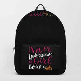 Never Underestimate a Girl With a Cello Cool Gift for Girls design Backpack
