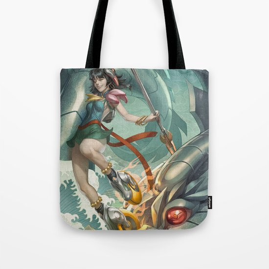 Nazha vs Sea Dragon Tote Bag