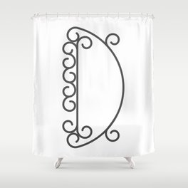 "Letter ""D"" in beautiful design Fashion Modern Style Shower Curtain"