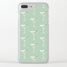 Shaken not Stirred Martini Seamless Pattern Clear iPhone Case