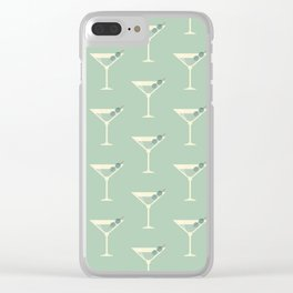 Shaken not Stirred Martini Seamless Pattern Clear iPhone Case