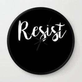 Resist Poster Wall Clock