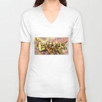 trumpet V-neck T-shirts featuring Trumpet Harmony by Rick Borstelman