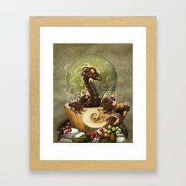 Coffee Dragon Framed Art Print