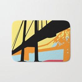 Over-Under Pop Art Bridge Bath Mat