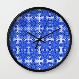Sapphire Blue Abstract Wall Clock