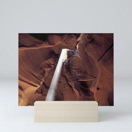 Light Beam Through Slot Canyon Mini Art Print