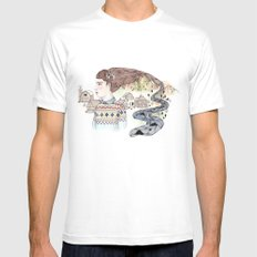 Cold Water MEDIUM White Mens Fitted Tee