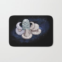 Space station from the fantastic world of the future . artwork Bath Mat