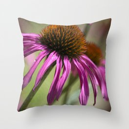 Late Summer Coneflower Throw Pillow