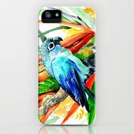 Tropical Foliage, Parrot Jungle floral design iPhone Case