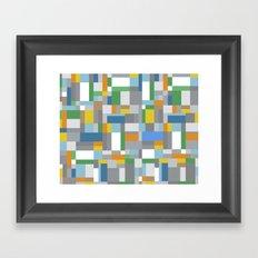Grey Orange Map Framed Art Print