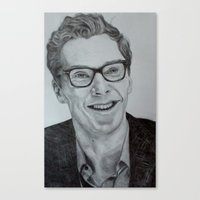 benedict cumberbatch Canvas Prints featuring Benedict Cumberbatch by Jess5_11
