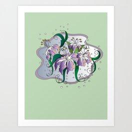 flying lilies  Art Print