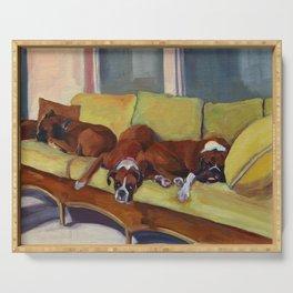 Boxer Dog Siesta Serving Tray