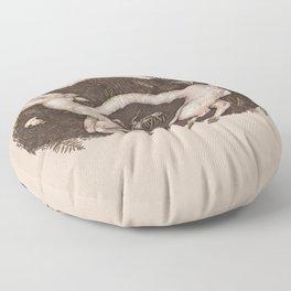 Predaceous Herbivore, Ghost Deer Floor Pillow