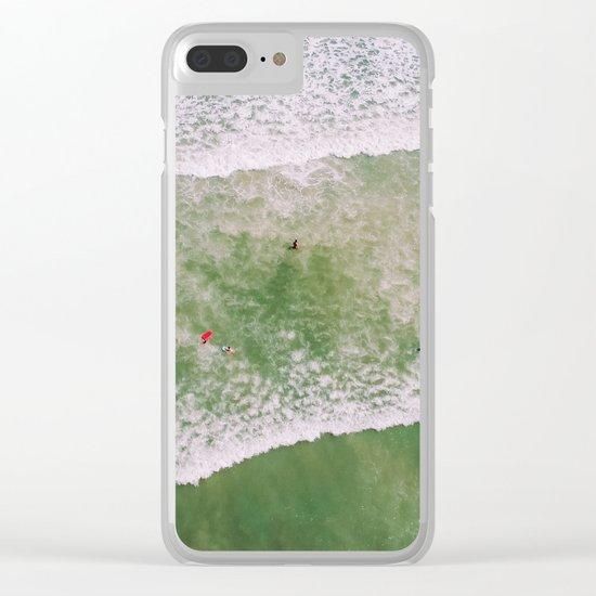 Waves bath Clear iPhone Case