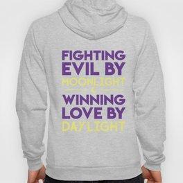 Fighting Evil By Moonlight Hoody
