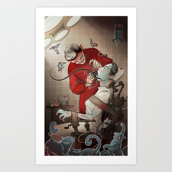 The Dentist Art Print