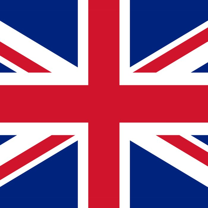 UK FLAG - The Union Jack Authentic color and 3:5 scale  Duvet Cover