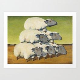 Sheep Stack Art Print