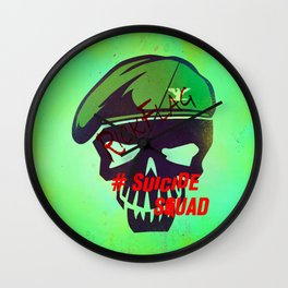 """RICKFLAG """"Suicide Squad"""" Wall Clock"""