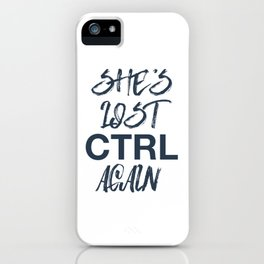 She's list control again - joy division iPhone Case