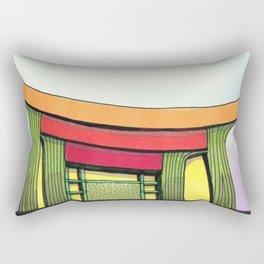 Cactus Pagoda Architectural Design 53 Rectangular Pillow
