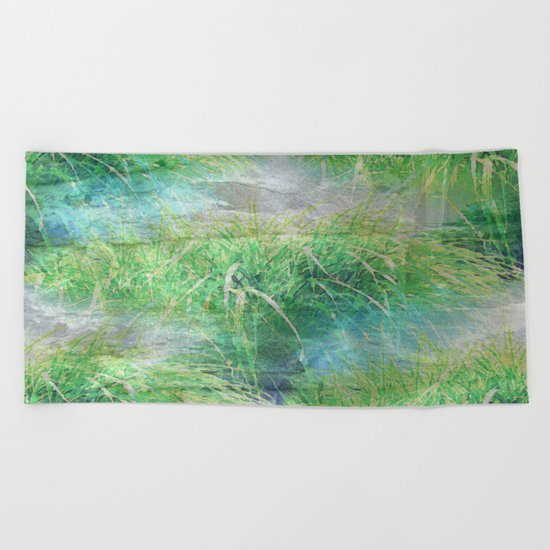 Nature's Miracles Abstract Beach Towel