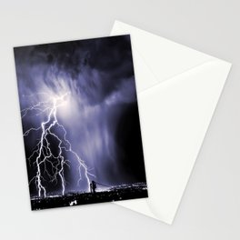 Lightning and Rain Funnel Stationery Cards
