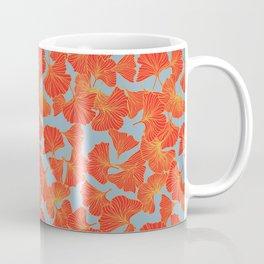 Tumbling Ginkgo Red Coffee Mug