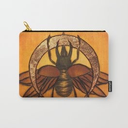 Rhino Beetle WIth Copper Moon Carry-All Pouch