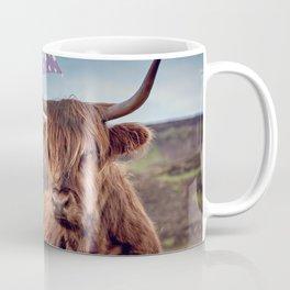 Highland Girl and Cow Friendship Coffee Mug