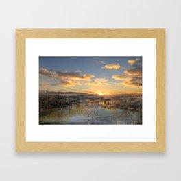 Sunset Reflections Framed Art Print