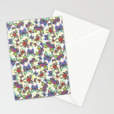 Colourful Butterfly's in a Spring Garden Stationery Cards