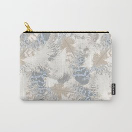 Owls, fashionable, modern, abstract, white, gray, blue, muted , pastel, beige, brown, Carry-All Pouch